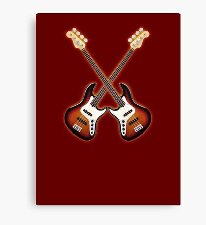 Double fender jazz bass lefty  Canvas Print
