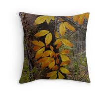 dangling leaves Throw Pillow