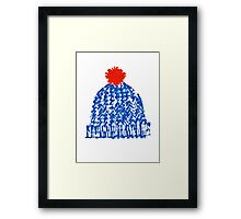 Winter Bobble Hat Framed Print