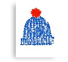 Winter Bobble Hat Canvas Print