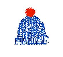 Winter Bobble Hat Photographic Print