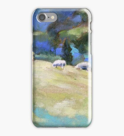 Grazing Sheep Oil Painting iPhone Case/Skin