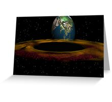Black Hole Event Horizon 01 - Front view Greeting Card