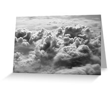 Aerial View of Clouds Greeting Card