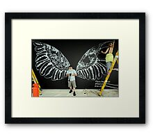 "An Angel ""Getting his wings"" Framed Print"