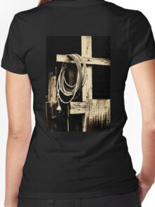 Cowboy Cross Women's Fitted V-Neck T-Shirt