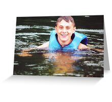 Keeping Head Above Water Greeting Card