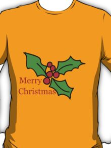 Merry Christmas Holly Tee T-Shirt