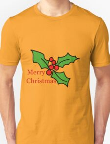 Merry Christmas Holly Tee T-Shirt