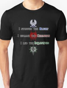 The Hero of Dragon Age T-Shirt