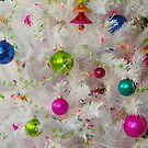 White Christmas Tree With Ornaments And Lights by John Ayo