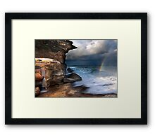 Falling Water, Falling Light Framed Print