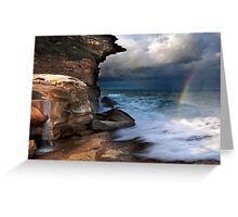 Falling Water, Falling Light Greeting Card