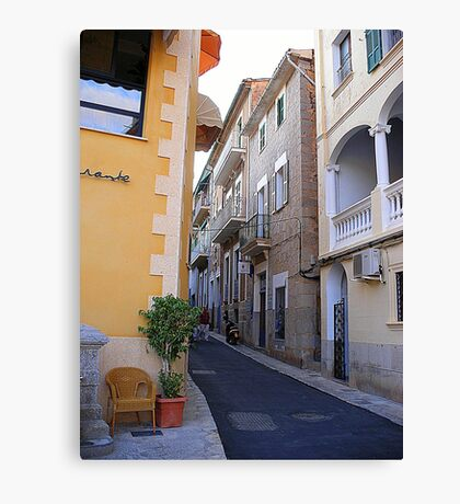 A Side Street In Soller...............................Majorca Canvas Print
