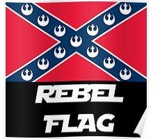 Star Wars Rebel Flag (Text Version) Poster