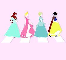 """Princesses Abbey Road"" by AliyaStorm"