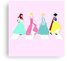 """Princesses Abbey Road"" Canvas Print"