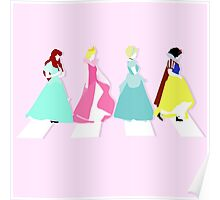 """""""Princesses Abbey Road"""" Poster"""