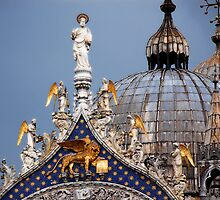 Roof of St Mark's Venice by Colin Leal