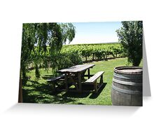 The Valley Vineyard Greeting Card