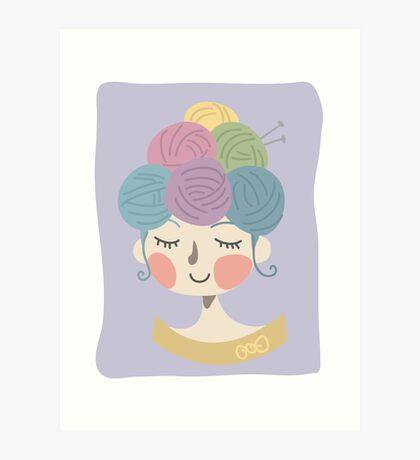 Knit Wit Art Print