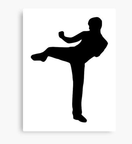 Martial arts Karate kick Canvas Print