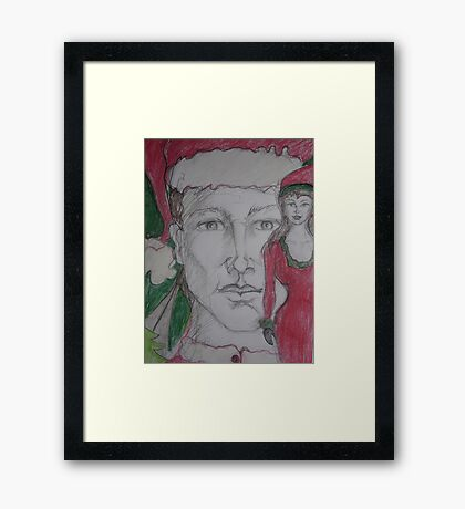 I'd like you for Christmas Framed Print