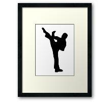 Karate kickboxing Framed Print