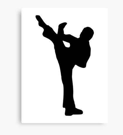 Karate kickboxing Canvas Print