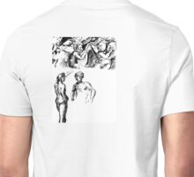 Angels watching over the couple Unisex T-Shirt