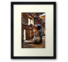 The Shearer Framed Print