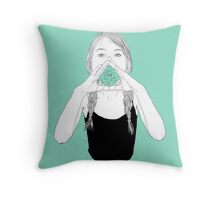 shout out loud Throw Pillow