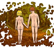 Nude Walk in the Autumn by Nude-is-Life