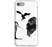 pen and ink birds iPhone Case/Skin