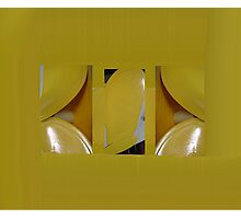 Yellow Placemats Photographic Print