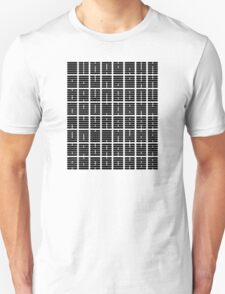 iChing 64 Hexagrams Black on White T-Shirt