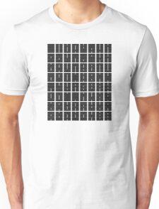 iChing 64 Hexagrams Black on White T-Shirt