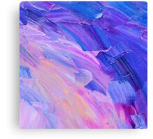Abstract hand painted background on canvas  Canvas Print