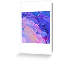 Abstract hand painted background on canvas  Greeting Card