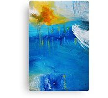Orange Yellow Blue Abstract Art Print Canvas Print