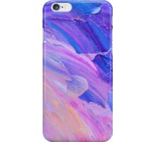 Abstract hand painted background on canvas  iPhone Case/Skin