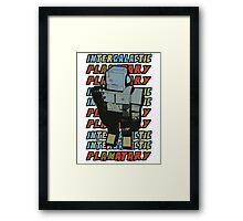 Beastie Boys - Intergalactic Planatary Framed Print