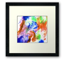 Smudge Paint Abstract #2 Framed Print