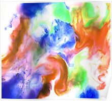 Smudge Paint Abstract #2 Poster