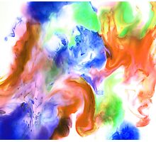 Smudge Paint Abstract #2 Photographic Print