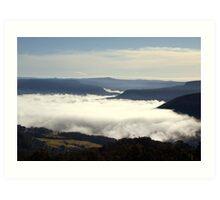 Valley Clouds - Kangaroo Valley, NSW Art Print