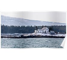 Acadia National Park Winter Time Lighthouse Poster