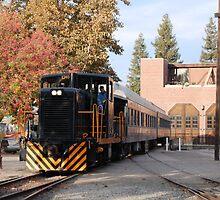 Old Town Sacramento Train by Mark  Christensen
