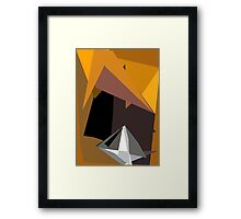 Diamond With Yellow Framed Print