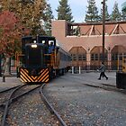 Old Town Sacramento Train - All Aboard by Mark  Christensen